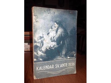 KALENDAR SV. ANTE 1936