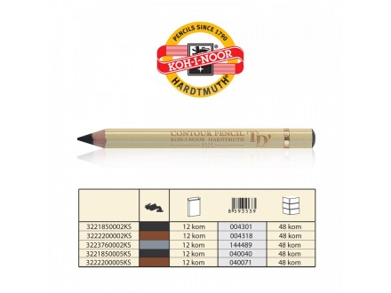 KOH-i-NOOR Contour Pencil 322