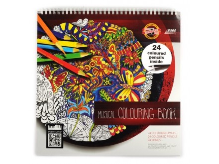 KOH-i-NOOR Polycolor Musical Colouring Book 9958024004G