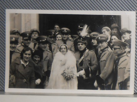 KRALJEVSKI OFICIR NA VENČANJU -1930/40 (VII-05)