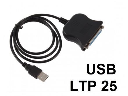 Kabal USB na LTP 25-pinski zenski konektor