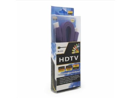Kabl Flet kabl HDMI na HDMI 1.5m ljubicasti