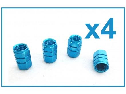 Kapice za ventile - 4 komada - PLAVE