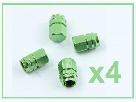 Kapice za ventile - 4 komada - ZELENE