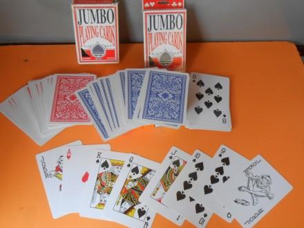 Karte Jumbo presvučene plastikom set:2.špila,12,7 x 9 c