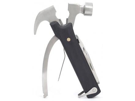 Kikkerland 10 in 1 - Multi-Tool Hammer Wooden Handle - Kikkerland