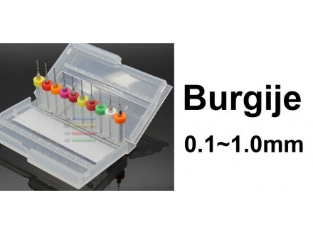 Komplet burgija 0.1-1.0 mm - Mikro burgije - 10 komada
