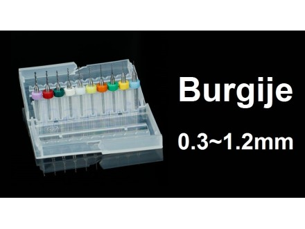 Komplet burgija 0.3-1.2 mm - Mikro burgije - 10 komada