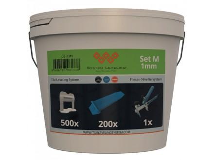 Komplet za nivelaciju pločica 1mm (500 kajli + 200 spon