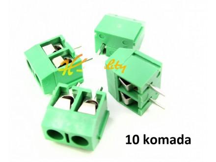 Konektor sa srafovima - 2 pola - 10 komada