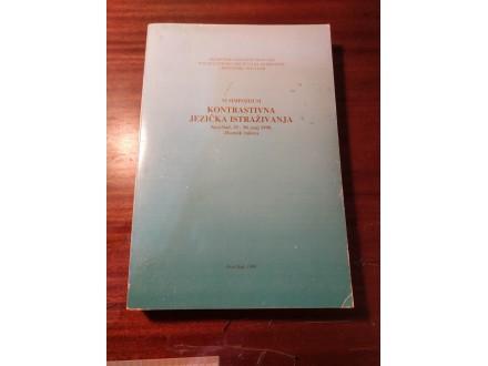 Kontrastivna jezička istraživanja Zbornik radova 1998