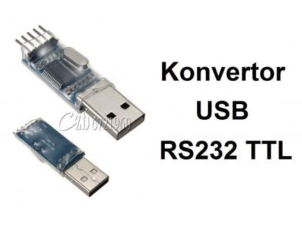 Konvertor USB na RS232 TTL modul