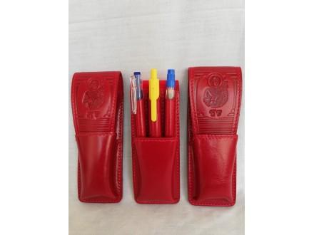 Kožna futrola za tri olovke, art.613