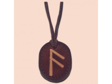 Kožna ogrlica runa amulet Ansuz