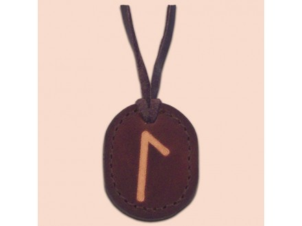 Kožna ogrlica runa amulet Laguz