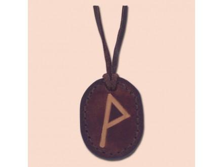 Kožna ogrlica runa amulet Wunjo