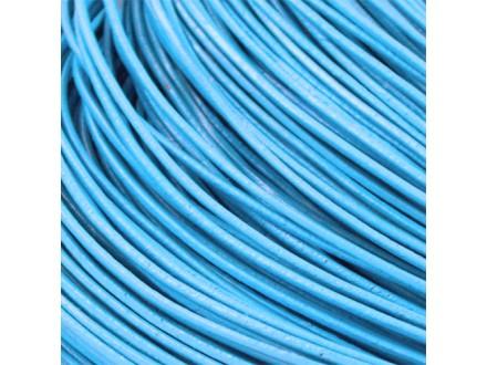Kožna traka okruglog prečnika svetlo plava 1.5 mm - 5 m/pak