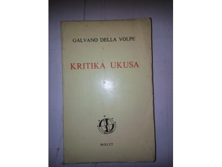 Kritika ukusa - Galvano Della Volpe