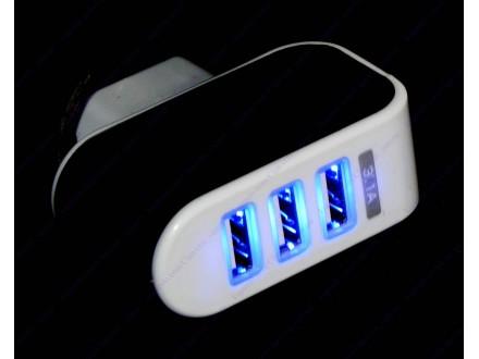 Kućni punjač sa 3 USB porta + BESPL DOST. ZA 3 ART.