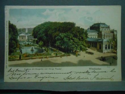 Kurhaus mit Kurgartenund Königl Theater Wiesbaden