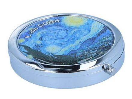 Kutija za lekove - Van Gogh, Starry night, Round - Van Gogh