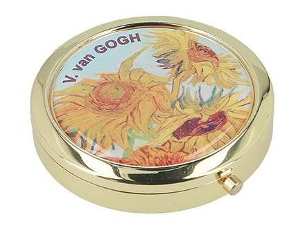 Kutija za lekove - Van Gogh, Sunflowers, Round - Van Gogh