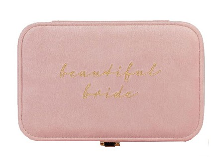 Kutija za nakit - Amore, Pink Velvet Beautiful Bride - Amore