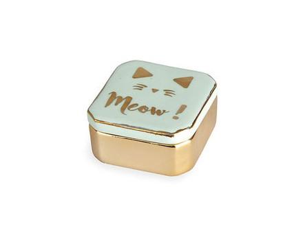 Kutija za nakit - Meow, Green - Balvi
