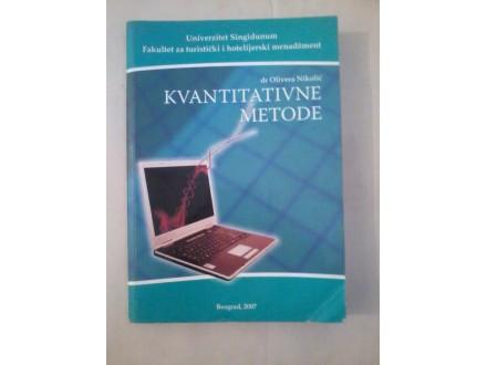 Kvantitativne metode - dr Olivera Nikolić