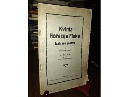 Kvinta Horacija Flaka IZABRANE PJESME (1923)