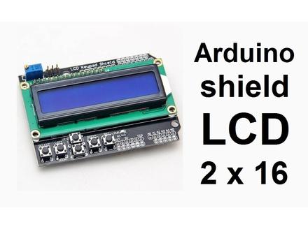 LCD Keypad Shield 16x2 display - Plavi