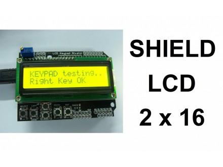 LCD Keypad Shield 16x2 display - Zuti