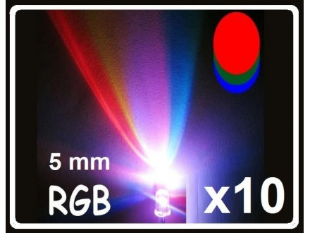 LED RGB dioda - brza - 5mm - 10 komada