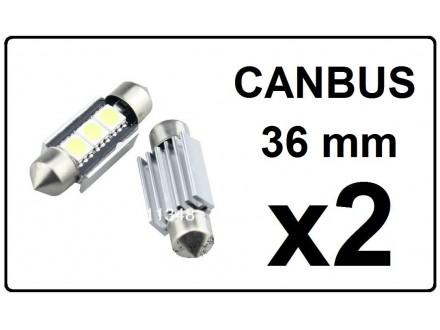 LED Sijalica - 36 mm - CANBUS 3 SMD - 2 komada