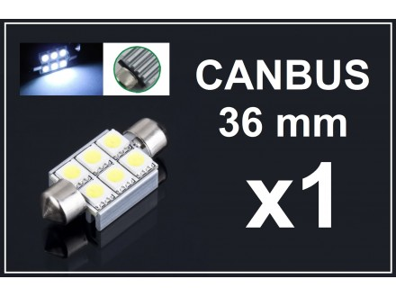 LED Sijalica - 36 mm - CANBUS 6 SMD - 1 komad