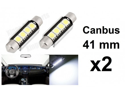 LED Sijalica - 41 mm - CANBUS 4 SMD - 2 komada