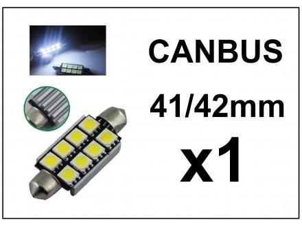 LED Sijalica - 42 mm - CANBUS 8 SMD - 1 komad