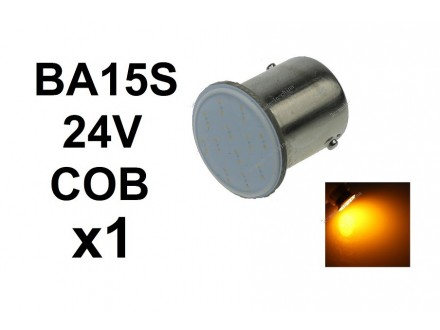 LED Sijalica - BA15S - 24V - ZUTA - COB - 1 komad