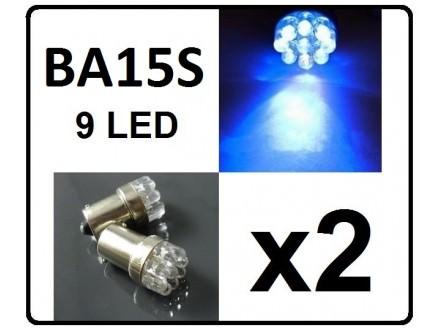 LED Sijalica - BA15S - PLAVA - 2 komada