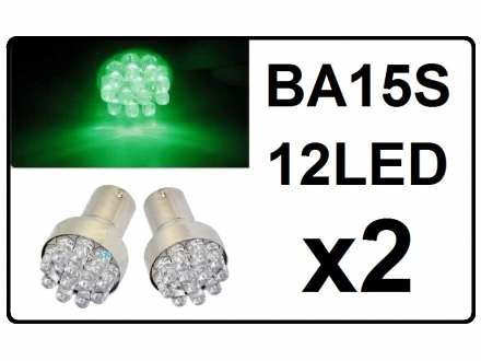 LED Sijalica - BA15S - ZELENA - 2 komada