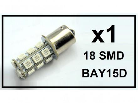 LED Sijalica - BAY15D - BELA - dva svetla - 1 komad