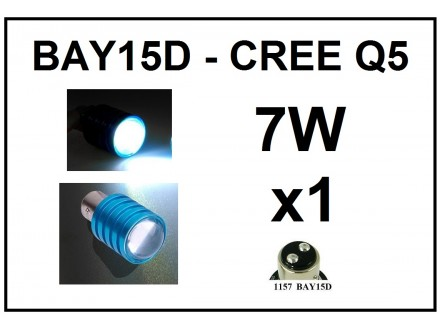 LED Sijalica - BAY15D CREE 7W Q5 - BELA -  komad