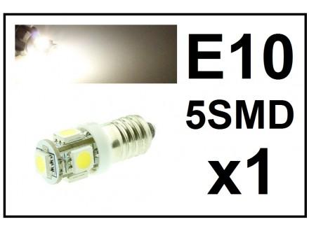 LED Sijalica - E10 pozicija - 5 dioda - 1 komad