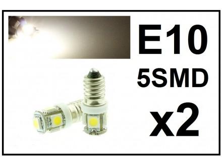 LED Sijalica - E10 pozicija - 5 dioda - 2 komada (par)