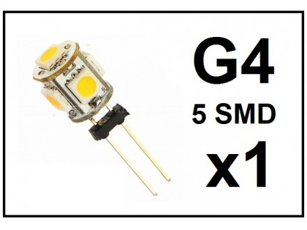 LED Sijalica - G4 - 5 SMD - 1 komad