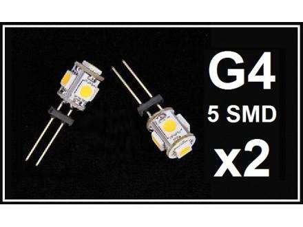 LED Sijalica - G4 - 5 SMD - 2 komada