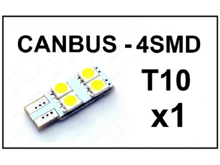 LED Sijalica - T10 CANBUS - 4 SMD - 1 komad