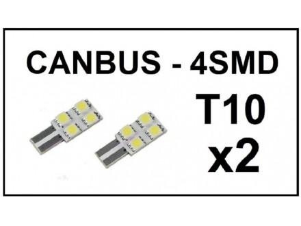 LED Sijalica - T10 CANBUS - 4 SMD - 2 komada (par)