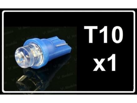 LED Sijalica - T10 pozicija - 1 LED - 1 komad - Plava