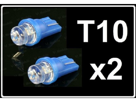 LED Sijalica - T10 pozicija - 1 LED - 2 komada - Plava